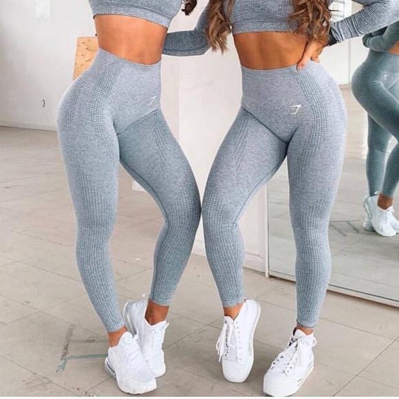 9a8c5405bab805 Gymshark Pants | Nwt Vital Seamless Steel Blue Marl | Poshmark